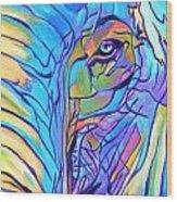 Elephant - Sky Blue Wood Print