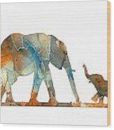 Elephant 01-2 Wood Print