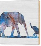 Elephant 01-3 Wood Print