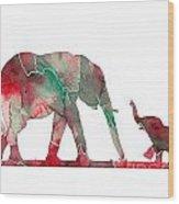 Elephant 01-6 Wood Print