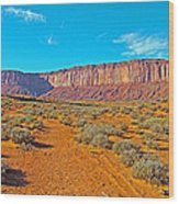 Elephant Butte From Wildcat Trail In Monument Valley Navajo Tribal Park-arizona   Wood Print