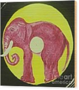 Elephant Cd Wood Print