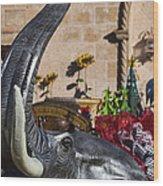 Elephant Celebration Wood Print by Kathy Clark