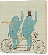 Elephant Days Lets Tandem Wood Print