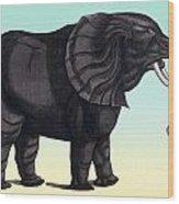 Elephant From The Historiae Animalium 16th Century Wood Print
