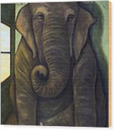 Elephant In The Room Wood Print