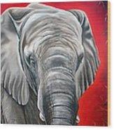 Elephant Six Of Eight Wood Print