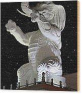 Elephant Statue Wood Print
