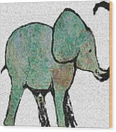 Elephant Water Color Wood Print