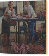 Elette De Wet And Uncle Jacques Wood Print