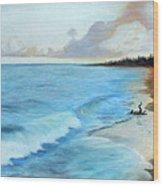 Eleutheran Seashore Wood Print