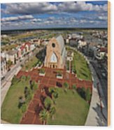 Elevated View Of Ave Maria Oratory Wood Print