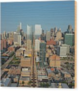 Elevated View Of Cityscape, Lake Street Wood Print