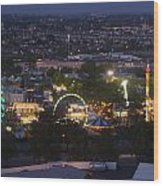 Elevated View Of The 2011 San Mateo County Fair Wood Print
