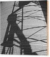 Elevator Shadow Wood Print