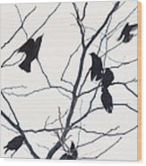 Eleven Birds One Morsel Wood Print