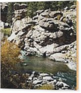 Eleven Mile Canyon - Mountain Stream Wood Print