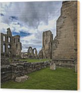 Elgin Cathedral Community - 7 Wood Print