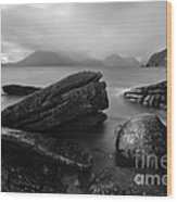 Elgol Beach Isle Of Skye Scotland Uk Wood Print