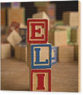 Eli - Alphabet Blocks Wood Print