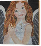 Eliana Little Angel Of Answered Prayers Wood Print