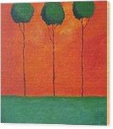 Elipsis Wood Print