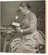 Elizabeth Garrett Anderson Wood Print by Stanislaus Walery