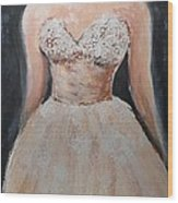 Lacey Dress Wood Print