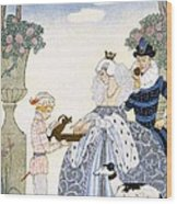 Elizabethan England Wood Print by Georges Barbier