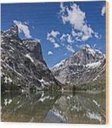 Elk Lake Panorama 1 Wood Print