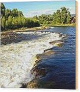 Elk River At Marabou Ranch Wood Print