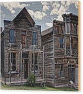 Elkhorn Ghost Town Public Halls - Montana Wood Print