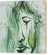 Ella En Verano Wood Print