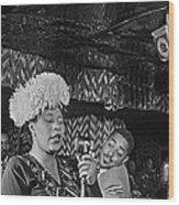 Ella Fitzgerald And Dizzy Gillespie William Gottleib Photo Unknown Location September 1947-2014. Wood Print