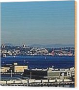 Elliot Bay Panorama Wood Print
