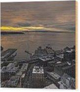 Elliott Bay Seattle Evening Wood Print