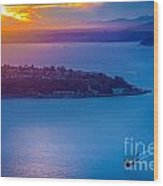 Elliott Bay Sunset Wood Print