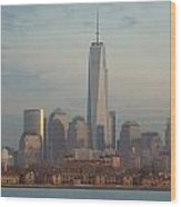 Ellis Island And The Freedom Tower Wood Print