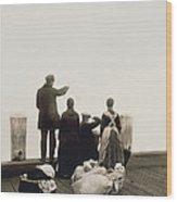 Ellis Island Immigrants Wood Print