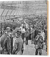 Ellis Island Immigration Hall, 1890s Wood Print