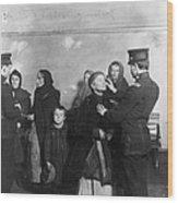 Ellis Island: Inspection Wood Print