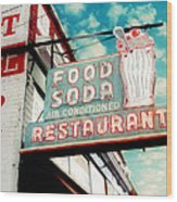 Elliston Place Soda Shop Wood Print