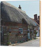 Elm Cottage Nether Wallop Wood Print