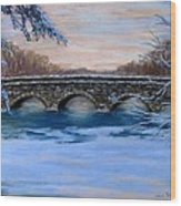 Elm Street Bridge On A Winter's Morn Wood Print