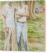 Elmer's Peaches Wood Print