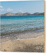 Elounda Beach Wood Print