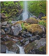 Elowah Falls Wood Print