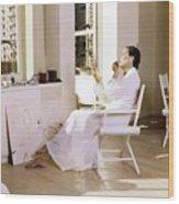Elsa Peretti Wearing Fernando Sanchez Wood Print