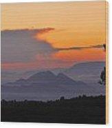 Elvira Sierra At Sunset Wood Print