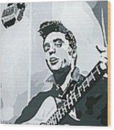 Elvis At Sun Wood Print